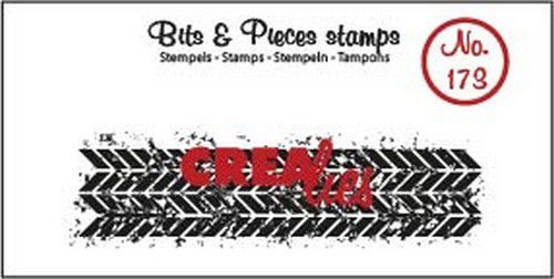Clearstamp Crealies - Bits & Pieces - Grunge Zigzag langwerpig (lang)