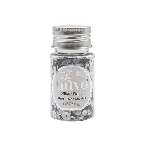 Nuvo - Pure Sheen Sequins - Silver Rain