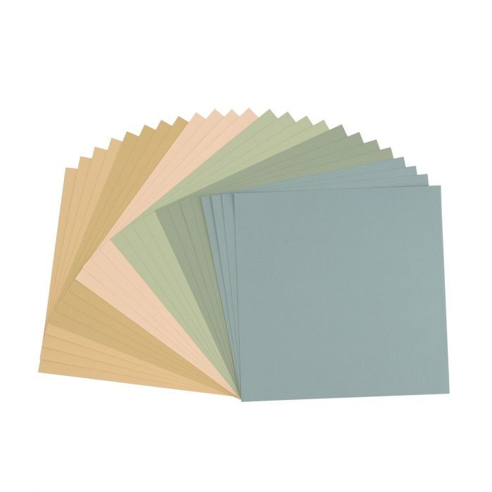 Florence Cardstock - Canvas Texture - Earth Tone assortie