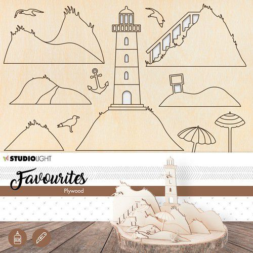 Studio Light - Plywood Favourites - Wooden Lighthouse