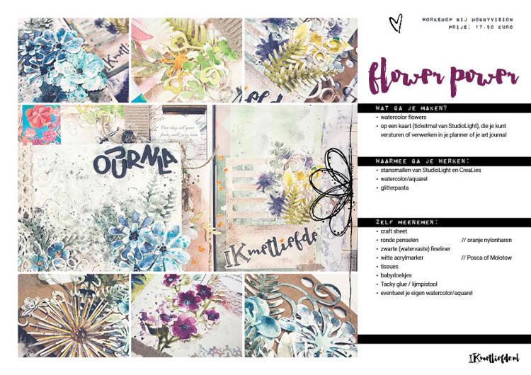 Workshop - Flower Power Watercolor met Ilse - Zaterdag 25 mei