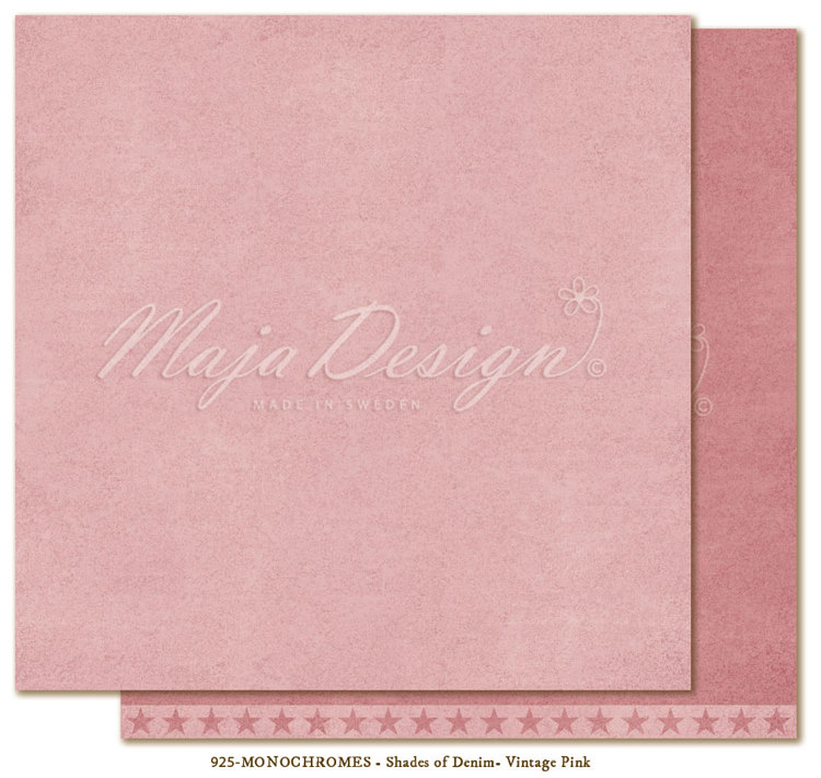 Maja Design - Monochromes - Shades of Denim & Girl - Vintage Pink