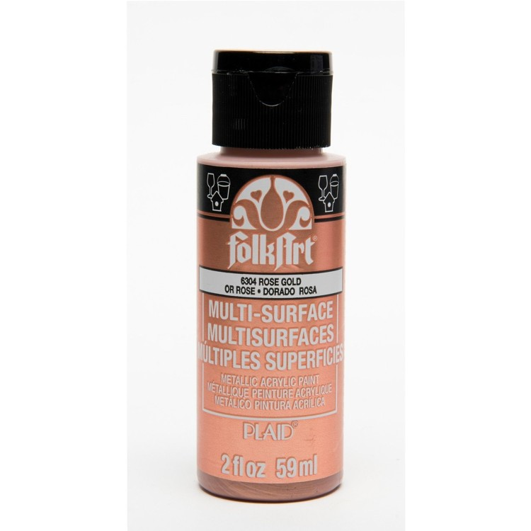 FolkArt / Plaid - Multi-Surface 59ml - Metallic Rose gold