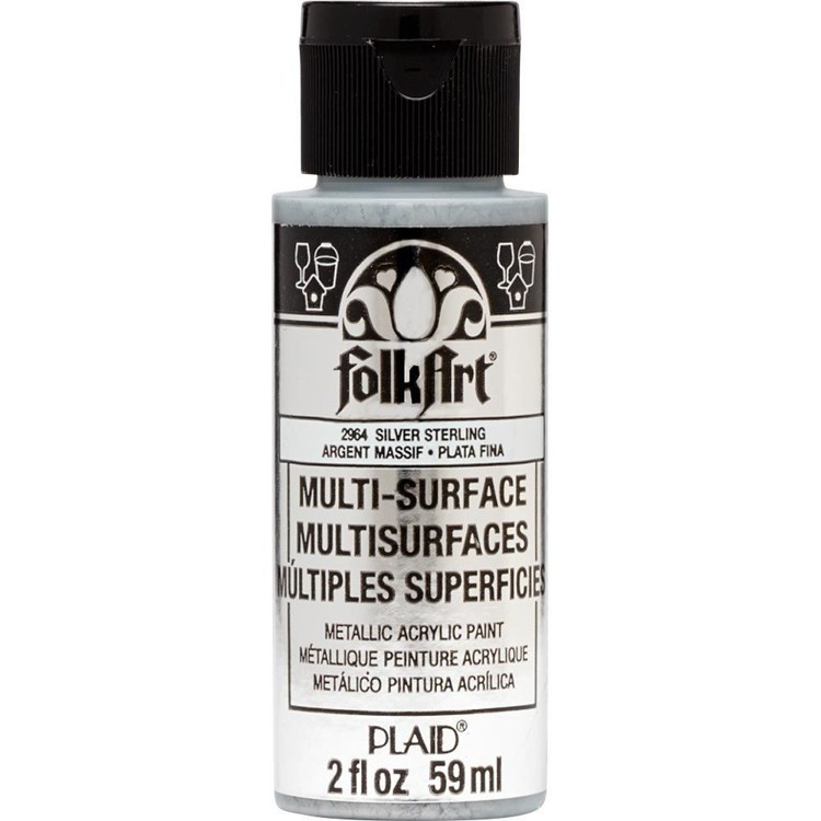FolkArt / Plaid - Multi-Surface 59ml - Metallic Sterling Silver