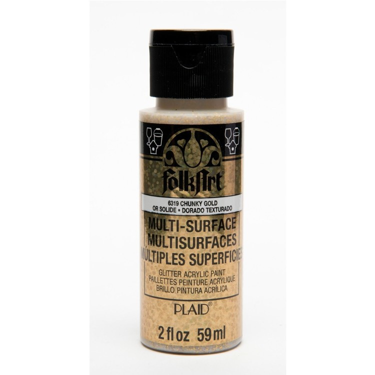 FolkArt / Plaid - Multi-Surface 59ml - Glitter Chunky Gold