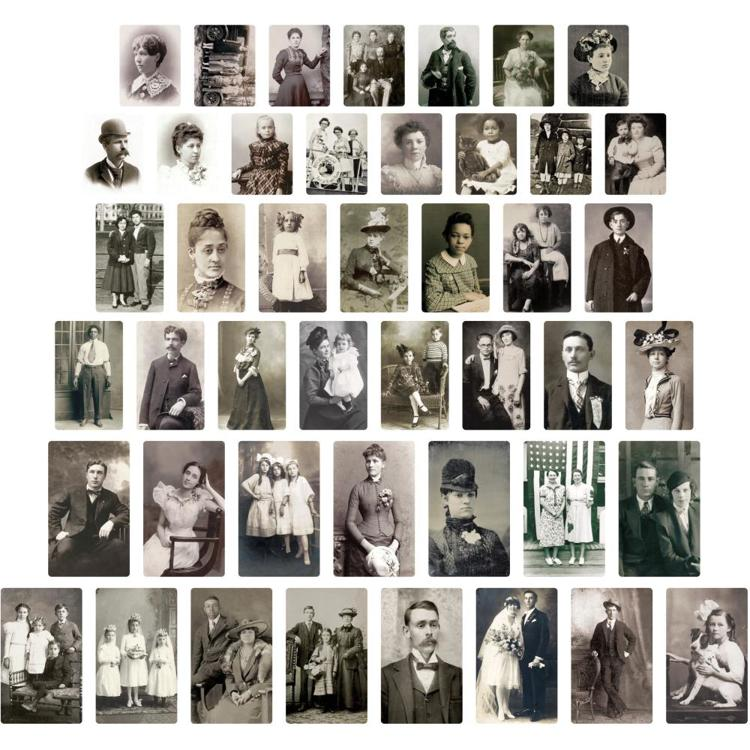 Tim Holtz - Idea-Ology - Found Relative Vintage Portraits 45/Pkg