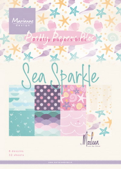 PRE-ORDER 5 - Marianne Design - Paperpad A5 - Sea Sparkle by Marleen