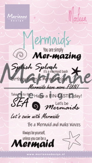 Marianne Design - Clearstamp - Mermaid sentiments by Marleen