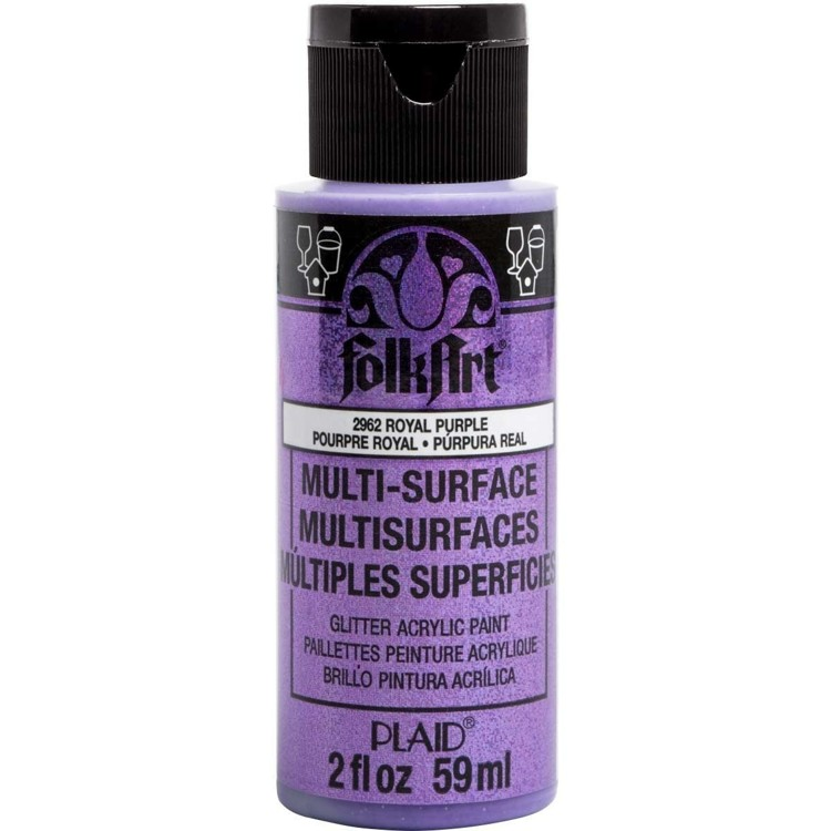 FolkArt / Plaid - Multi-Surface 59ml - Glitter Royal Purple