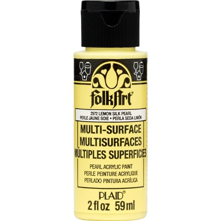 FolkArt  Multi-Surface pearl lemon silk 59ml
