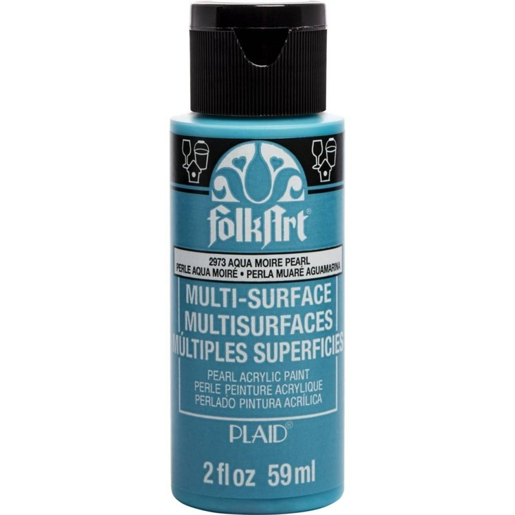 FolkArt  Multi-Surface pearl aqua moire 59ml