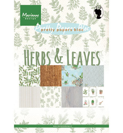 Marianne Design - Paperpad A5 - Herbs & Leaves