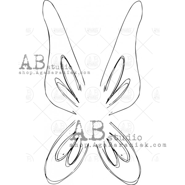 "AB Studio - Rubber Stamp - Ilse Kleijer - ID-493 ""Wings"""