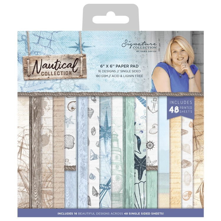 "Crafter's Companion - Sara Signature Collection - Nautical Collection - Paperpad 6"" x 6"""