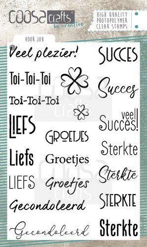 COOSA Crafts - Clearstamps A6 - Voor jou