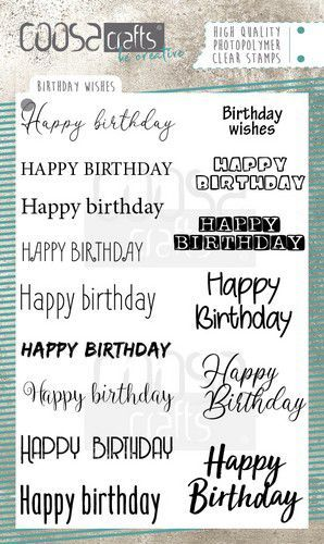 COOSA Crafts - Clearstamps A6 - Birthday Wishes