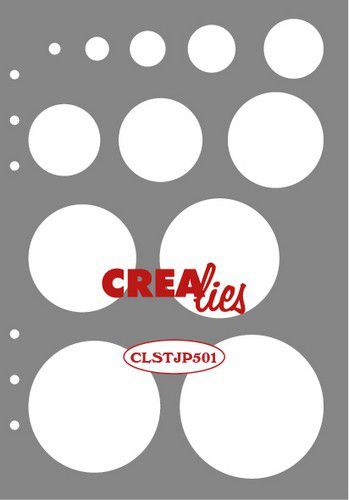 Crealies - Journalzz & Plannerzz Stencil - Decoratie cirkels