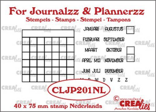 Crealies - Journalzz & Plannerzz - Stempels maandtracker NL