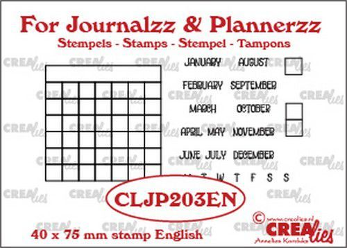 Crealies - Journalzz & Plannerzz - Stempels maandtracker EN