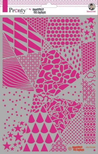 Pronty by Jolanda de Ronde - Mask stencil Geometric backgrounds A4
