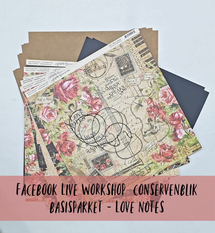 FACEBOOKLIVE - Workshop Conservenblik 15 mei - Basispakket Love Notes