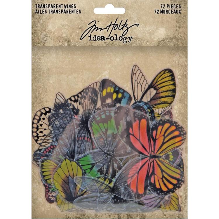 Tim Holtz - Idea-Ology - Transparent Acetate Wings 72/Pkg