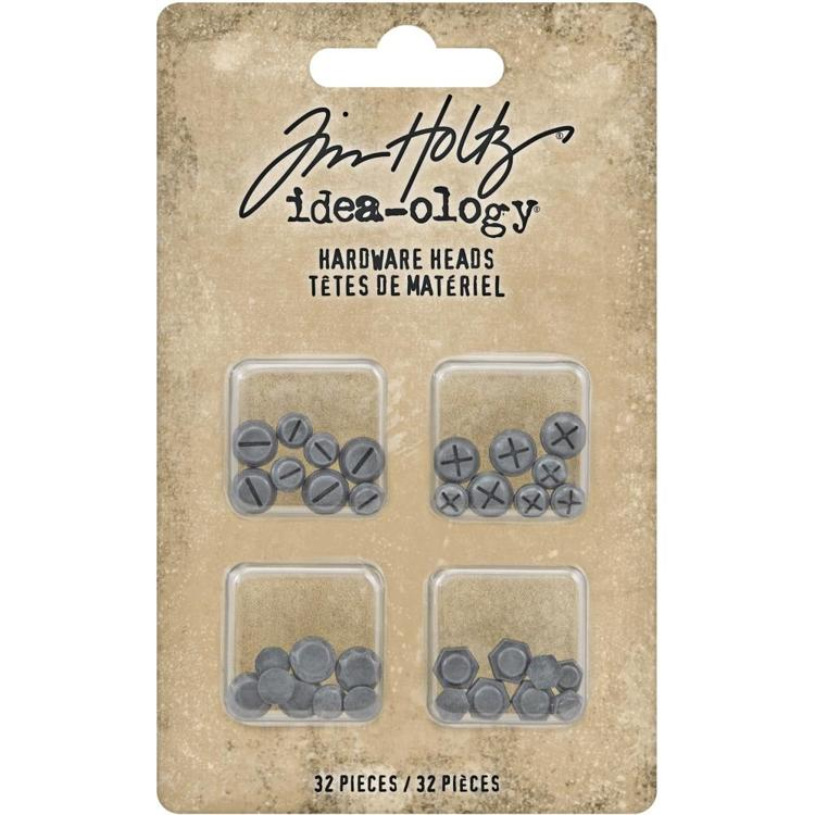 Tim Holtz - Idea-Ology - Metal Hardware Heads 32/Pkg