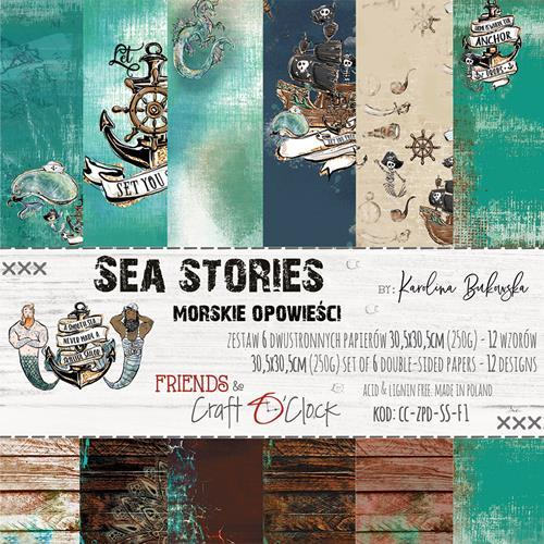Craft-O-Clock - Paper Collection Set 30,5 x 30,5 cm - Sea Stories