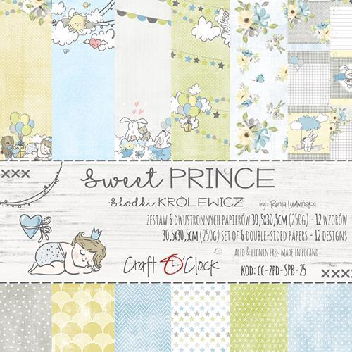 Craft-O-Clock - Paper Collection Set 30,5 x 30,5 cm - Sweet Prince