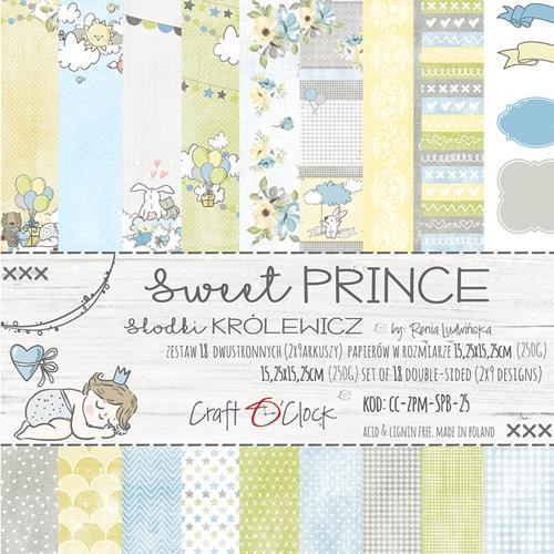 Craft-O-Clock - Paper Collection Set 15,2 x 15,2 cm - Sweet Prince