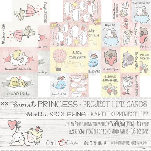 Craft-O-Clock - Set of Project Life Cards - Sweet Prinsess