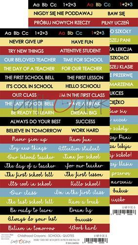 Craft-O-Clock - Quotes to cut out - Childhood Crayons / School