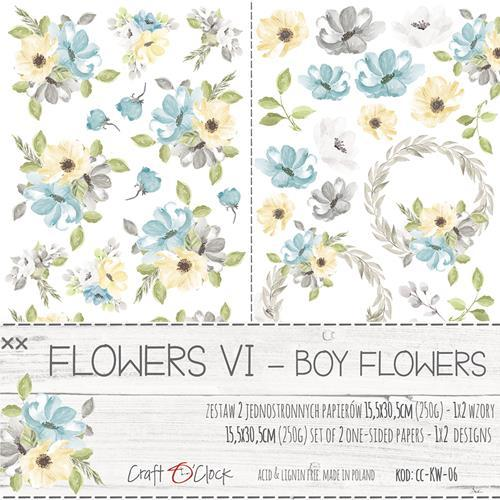 Craft-O-Clock - Paper Collection Set - Sweet Prince - Flowers VI
