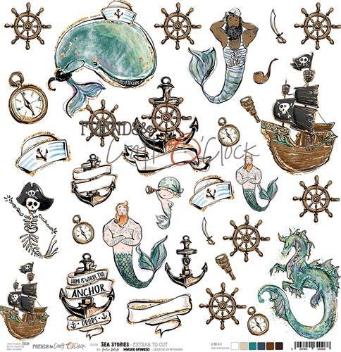 Craft-O-Clock - Cutting Sheet 30,5 x 30,5 cm - Sea Stories