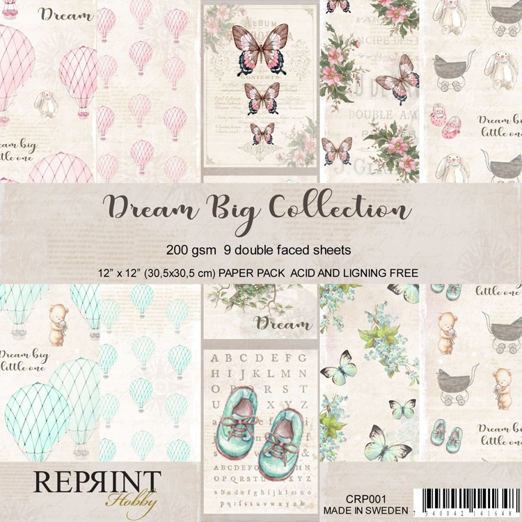 Reprint - Paperpad 30,5 x 30,5 cm - Dream Big Collection
