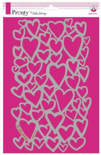 Pronty by Julia Woning - Stencil A4 - Hearts
