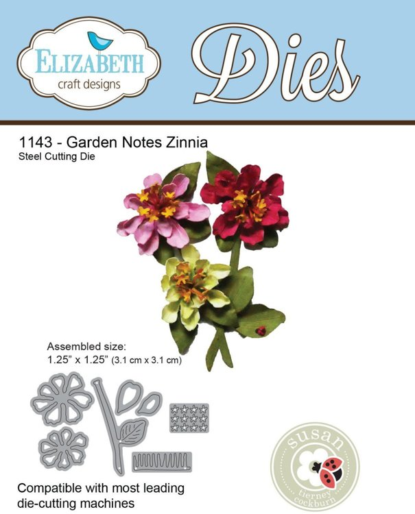 Elizabeth Craft Design - Cutting Dies - Garden Notes Zinnia