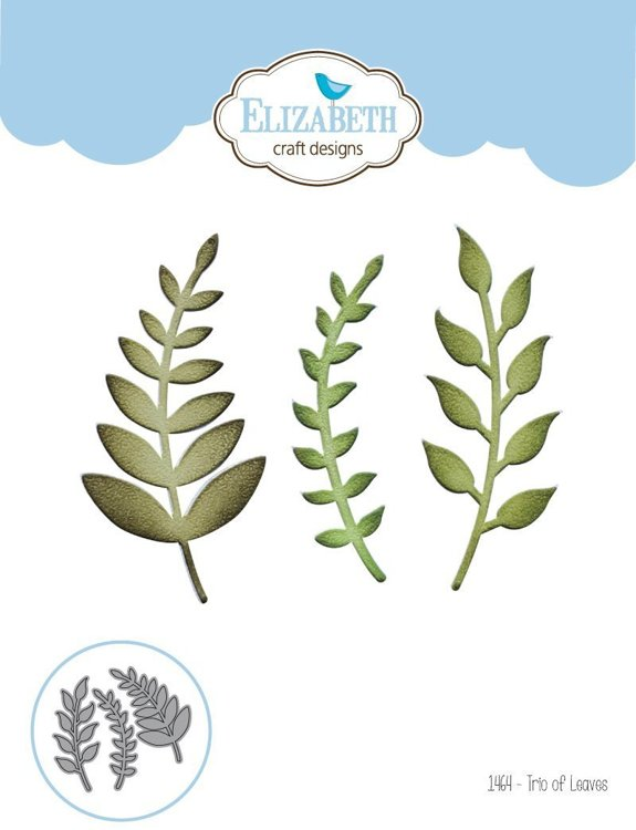 Elizabeth Craft Design - Cutting Dies - Garden Notes Trio of Leaves