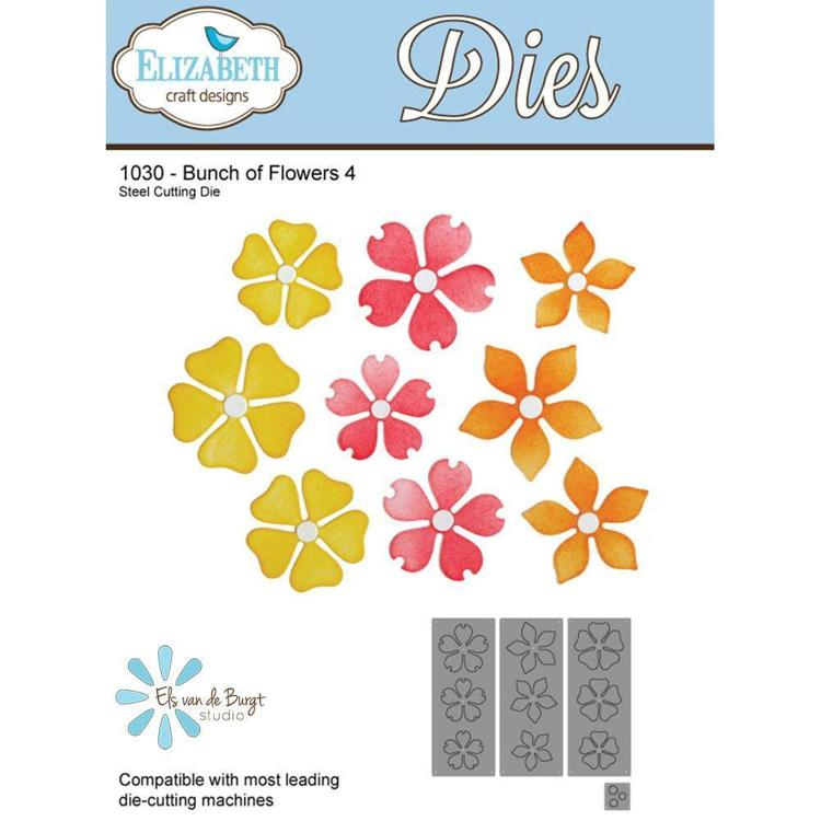 Elizabeth Craft Design - Cutting Dies - Garden Notes Bunch of Flower 4