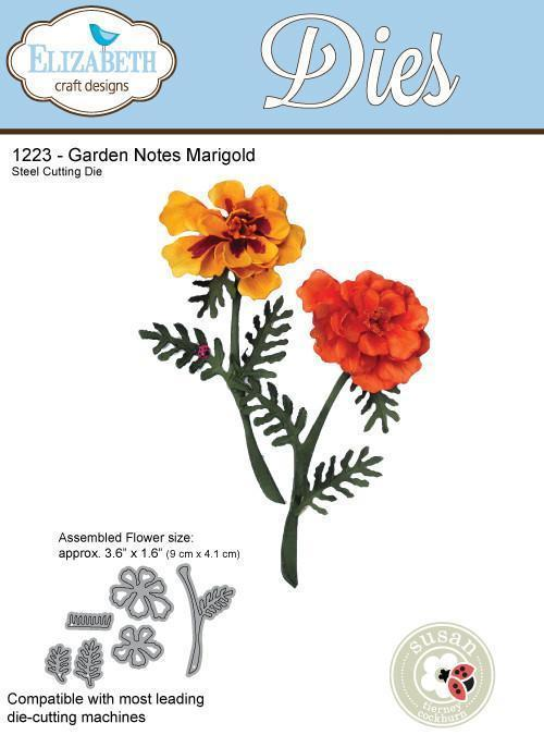 Elizabeth Craft Design - Cutting Dies - Garden Notes Marigold