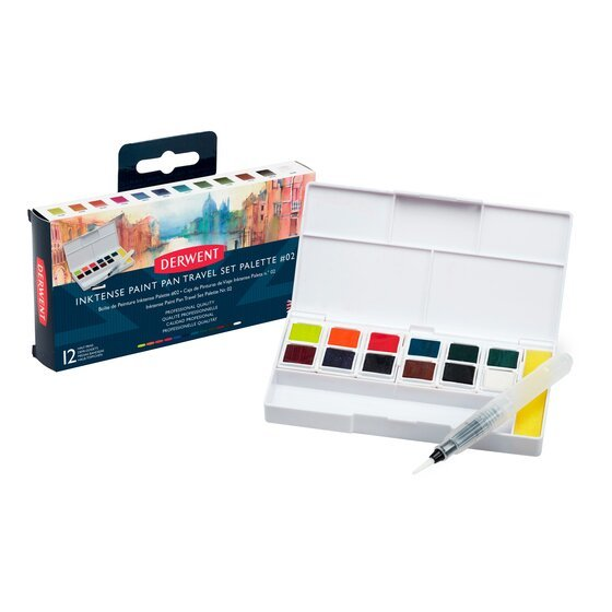 Derwent - Inktense - Paint Pan Travel Set 12 kleuren - SET 2