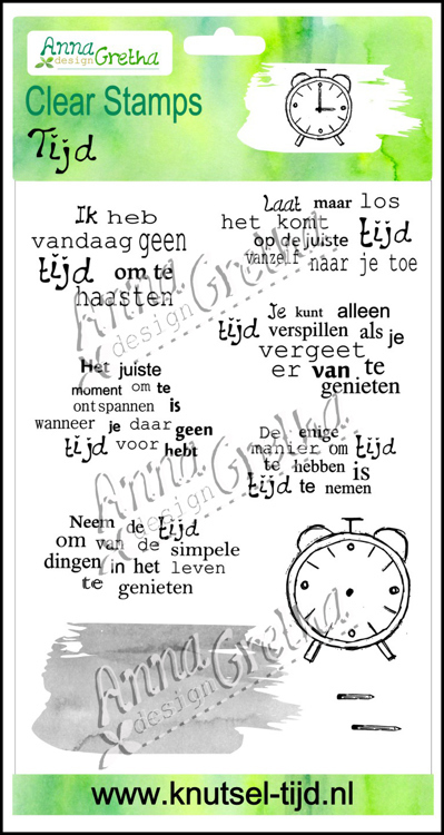 Clearstamps Anna Gretha Design - Set Tijd (2210183)
