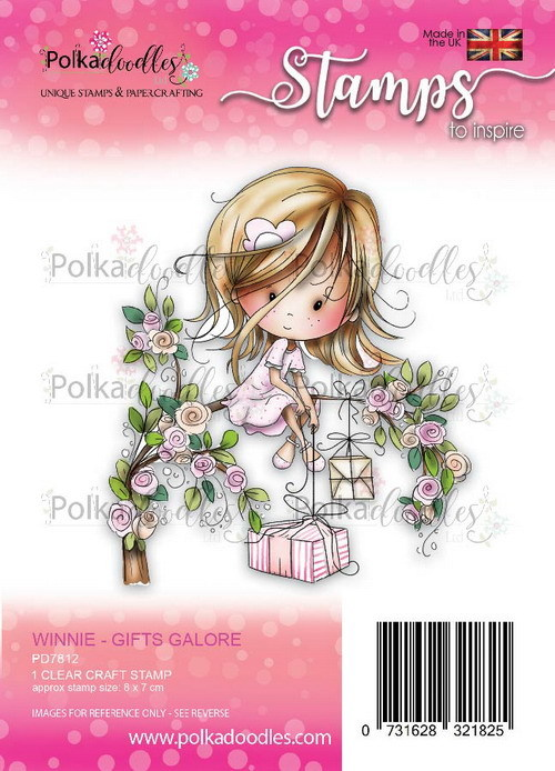 Clearstamp Polkadoodles - Winnie Heavenly - Gifts galore