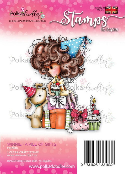 Clearstamp Polkadoodles - Winnie Heavenly - Pile of gifts