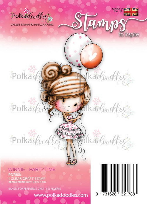 Clearstamp Polkadoodles - Winnie Heavenly - Partytime