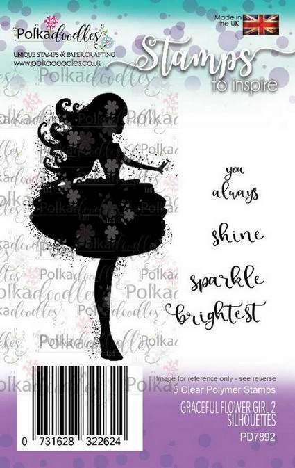 Clearstamp Polkadoodles - Silhouette - Graceful Flower Girl 2