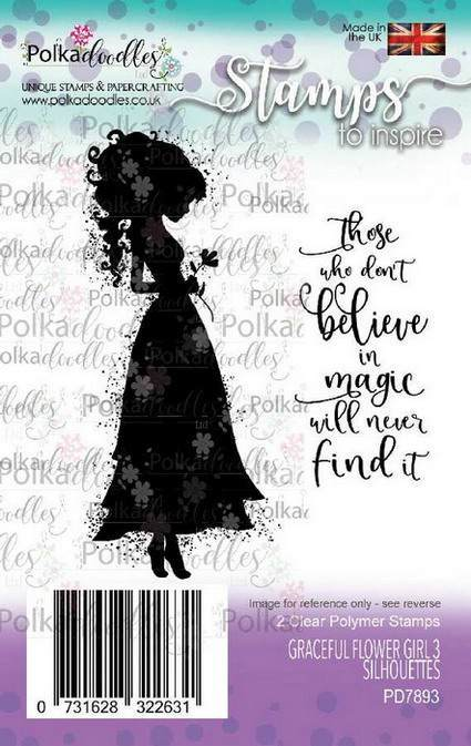 Clearstamp Polkadoodles - Silhouette - Graceful Flower Girl 3