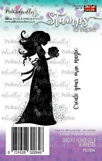 Clearstamp Polkadoodles - Silhouette - Graceful Flower Girl 4