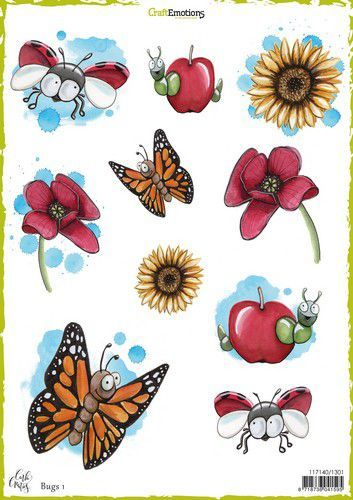 CraftEmotions - Decoupage vellen A4 - Bugs 1