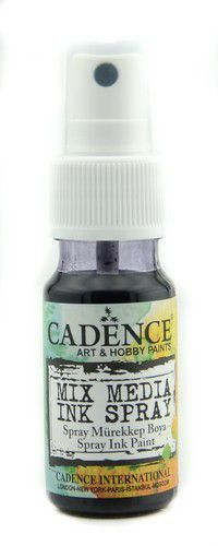 Cadence - Mix Media Shimmer Metallic Spray - Zwart